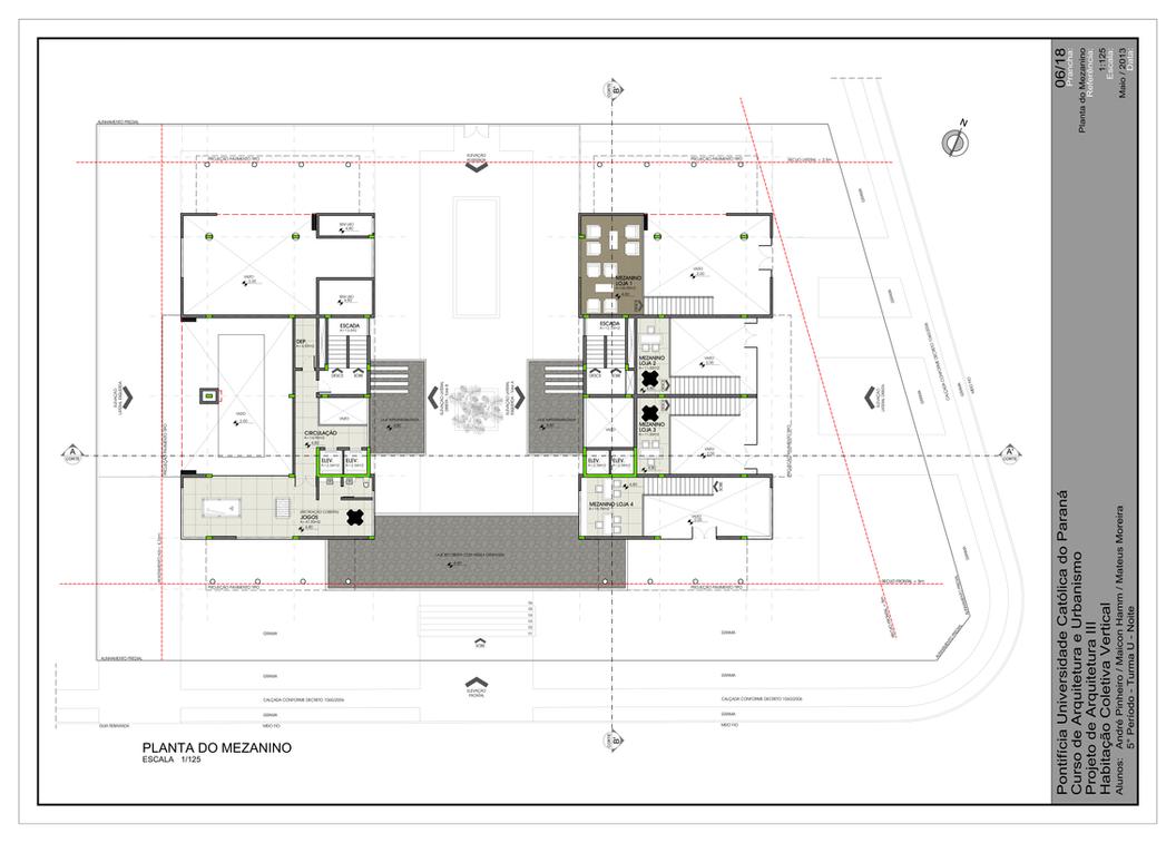 Residencial building mezzanine floor plan by for Mezzanine floor plan