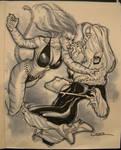 catfight-Tigra and Black Cat