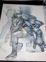 Major-Ghost in the Shell by ukosmith
