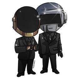 Chibi Daft Punk Commission