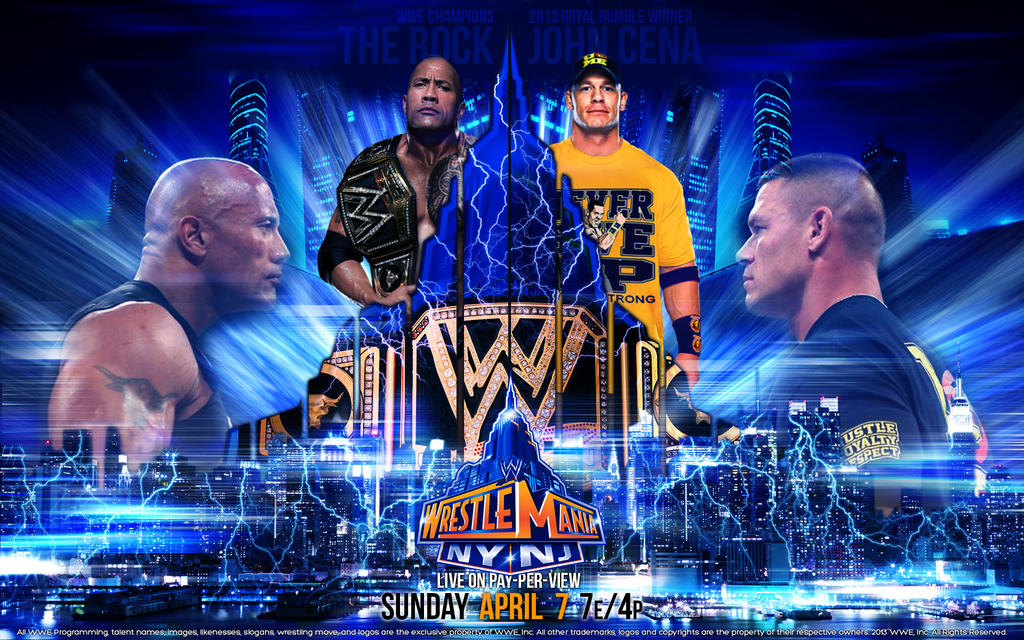 Group Of Wwe Wrestlemania John Cena Wallpaper