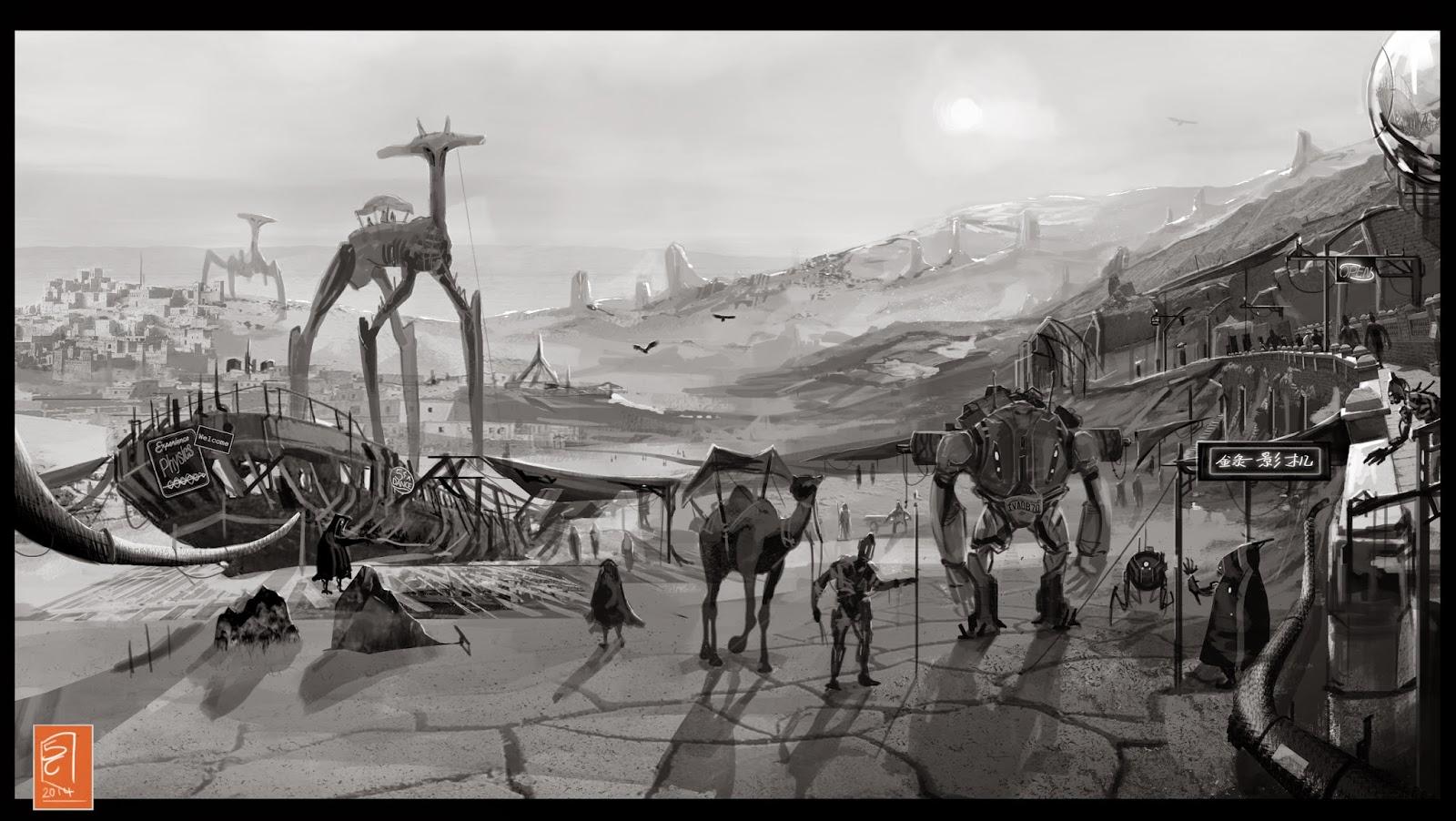 Desert Market By Sam Cannon by CannonArt