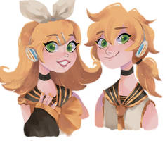 Twins by snownymphs