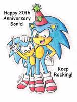 .:Sonic 20th Anniversary:. by Chichalovescandy