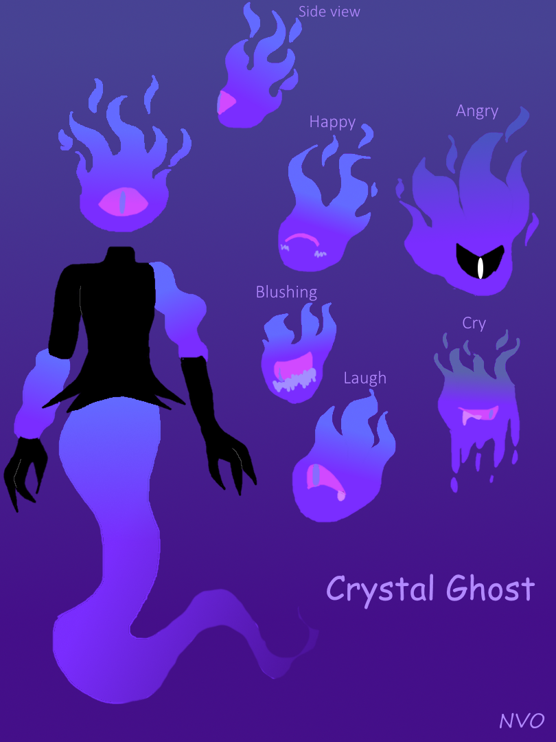 Crystal Ghost by NeonVioletOwl