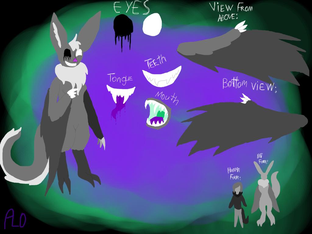 Bat-Cat(Bat Form) by NeonVioletOwl