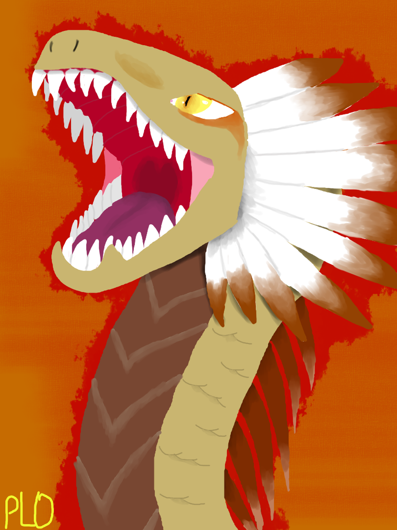 Deserted Dragon(head) by NeonVioletOwl