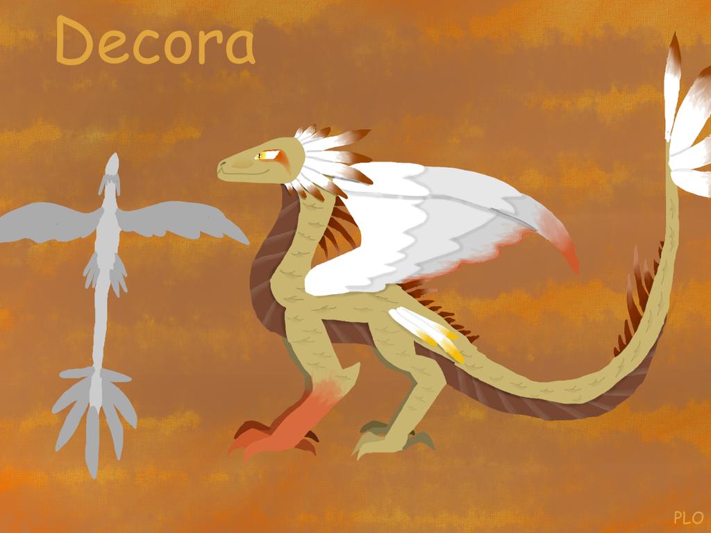 Decora(Deserted Dragon) by NeonVioletOwl