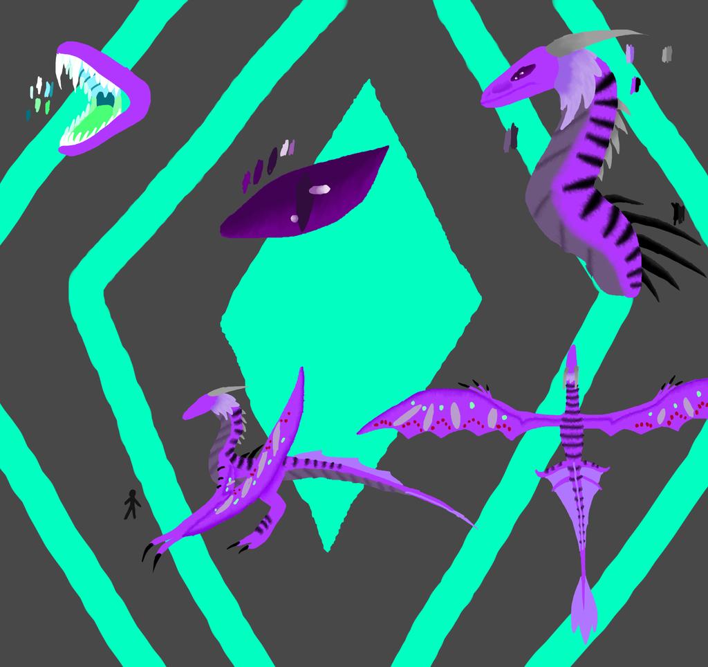 Anon Dragon form(Dragonita) by NeonVioletOwl