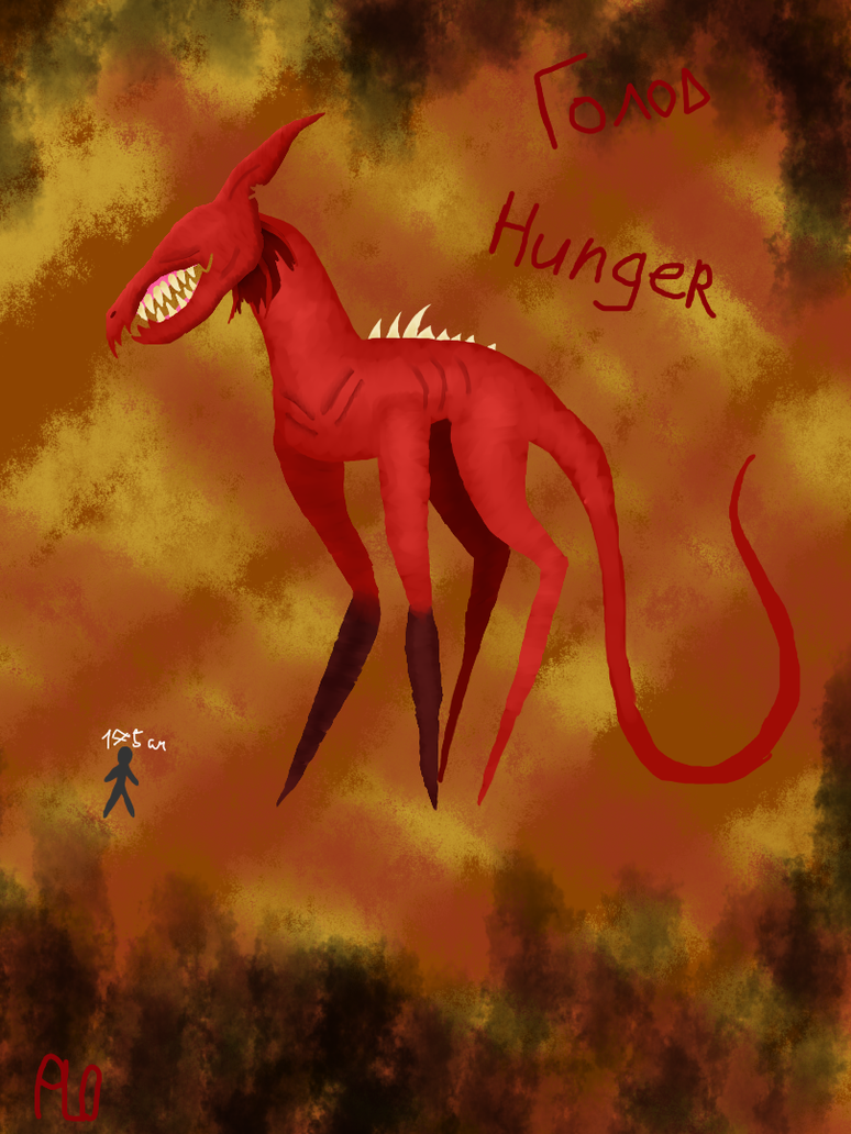 The four horsemen of the Apocalypse:Hunger by NeonVioletOwl