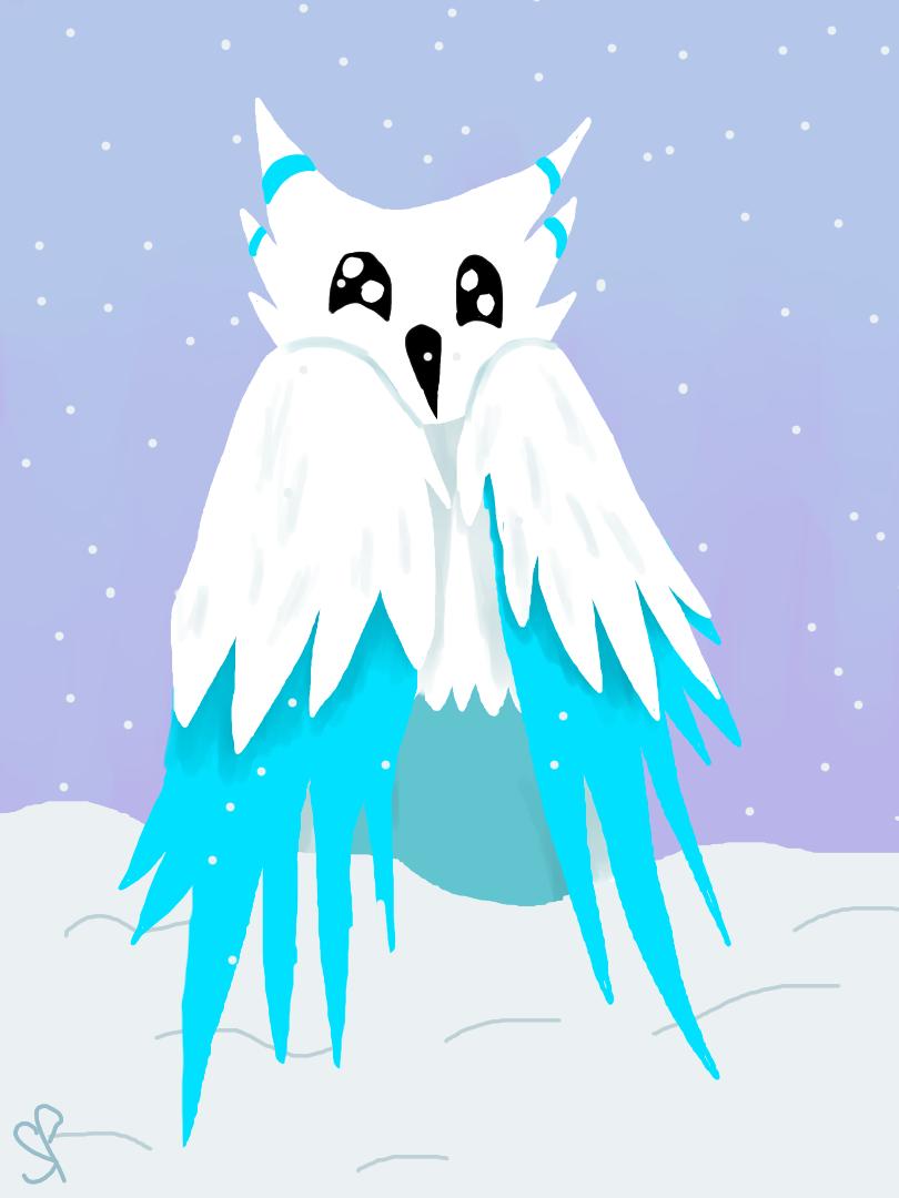 Winter Owl  by NeonVioletOwl