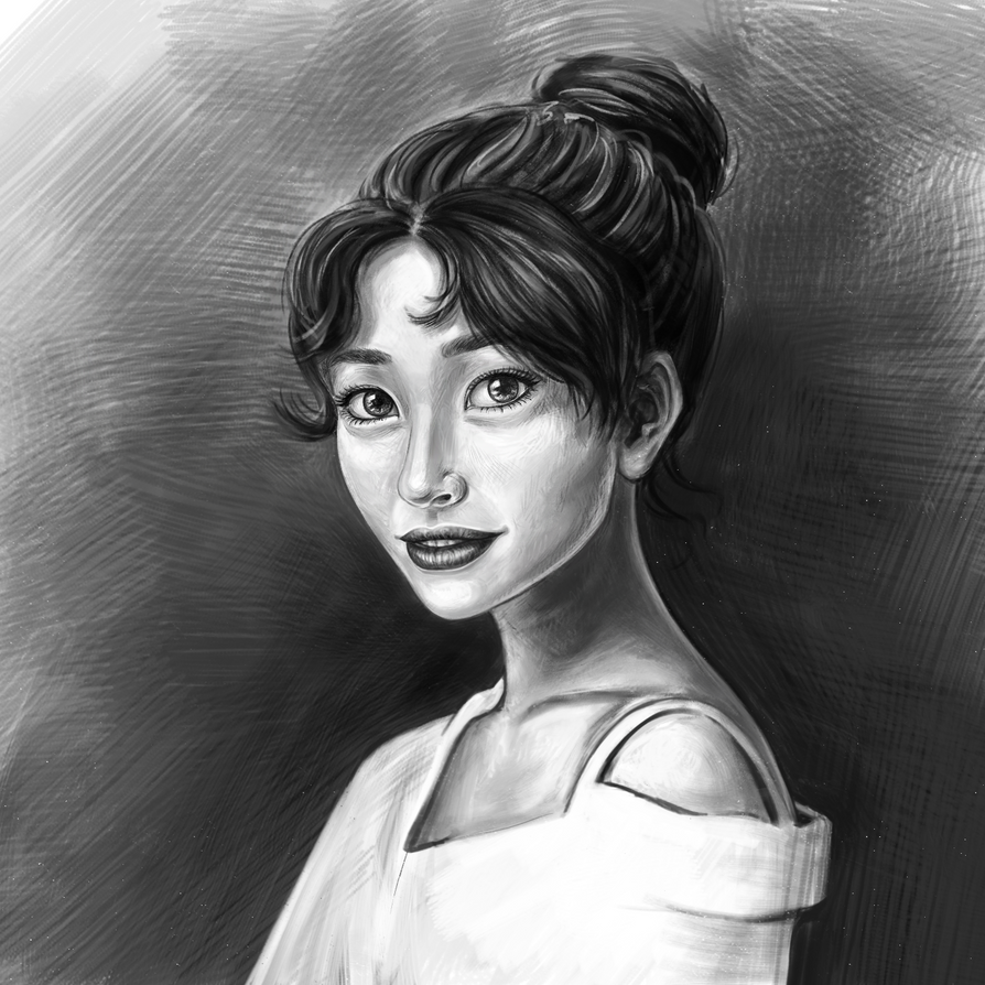 Black and White Portrait Study of Jeon Somi by dayMdel