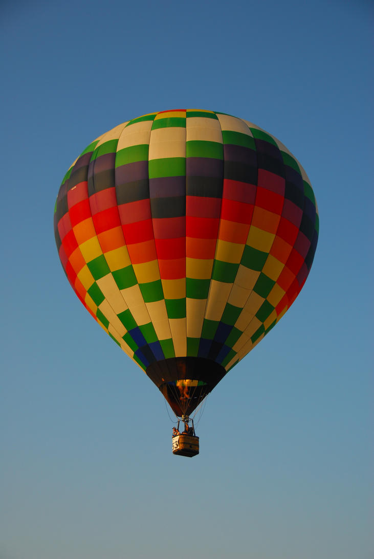 Catherine Cross Hot Air Balloon Stock Image by CatherineCross