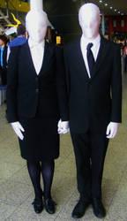 Mr and Mrs Slenderman by lunamaxwell