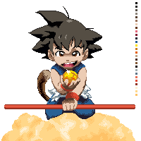 Goku Pixel by Blue-Oni