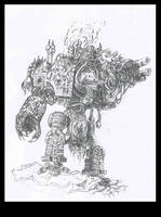 Wh 40k - Chaos Dreadnought by Paraxyzm
