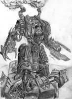 Chaos Dreadnought-Ushabti by Paraxyzm