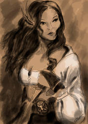 Sorceress by Paraxyzm