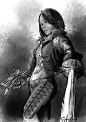 Vampire huntress by Paraxyzm