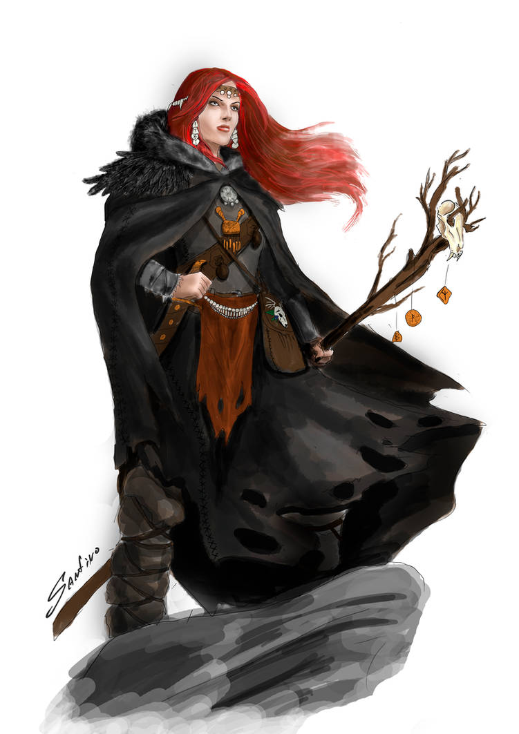Viking Sorceress by Paraxyzm