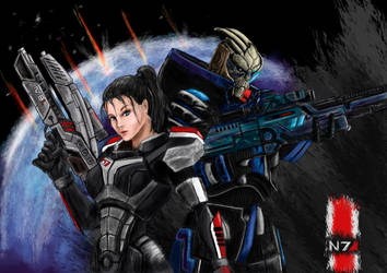 Femshep and Garrus by Paraxyzm