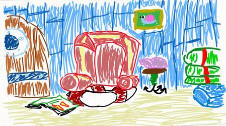 SpongeBobs Room Drawn in FlipaClip