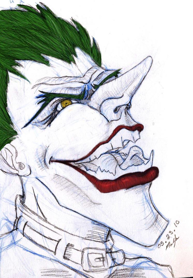 How To Draw Joker Face