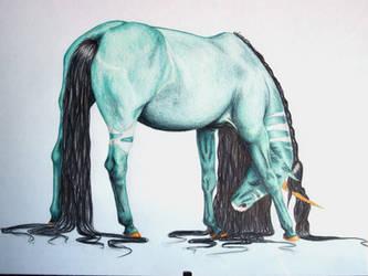 Birthday Present Horse by Ixi-Da-Pixie