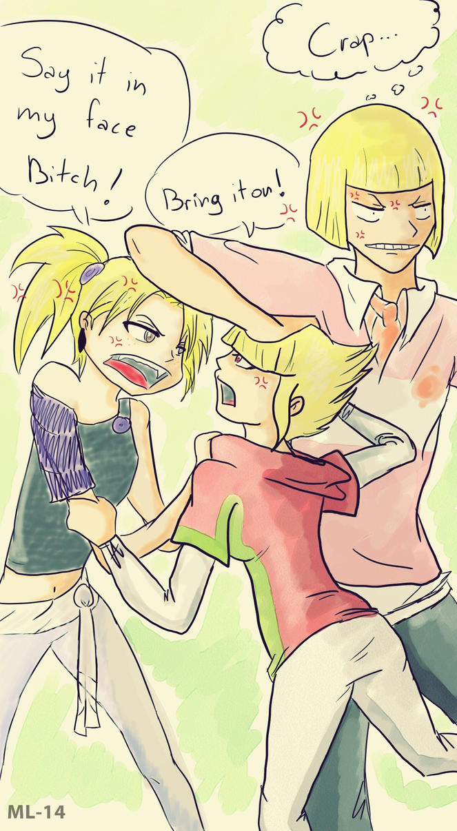 Blond Fight by Moony-14-Lucky