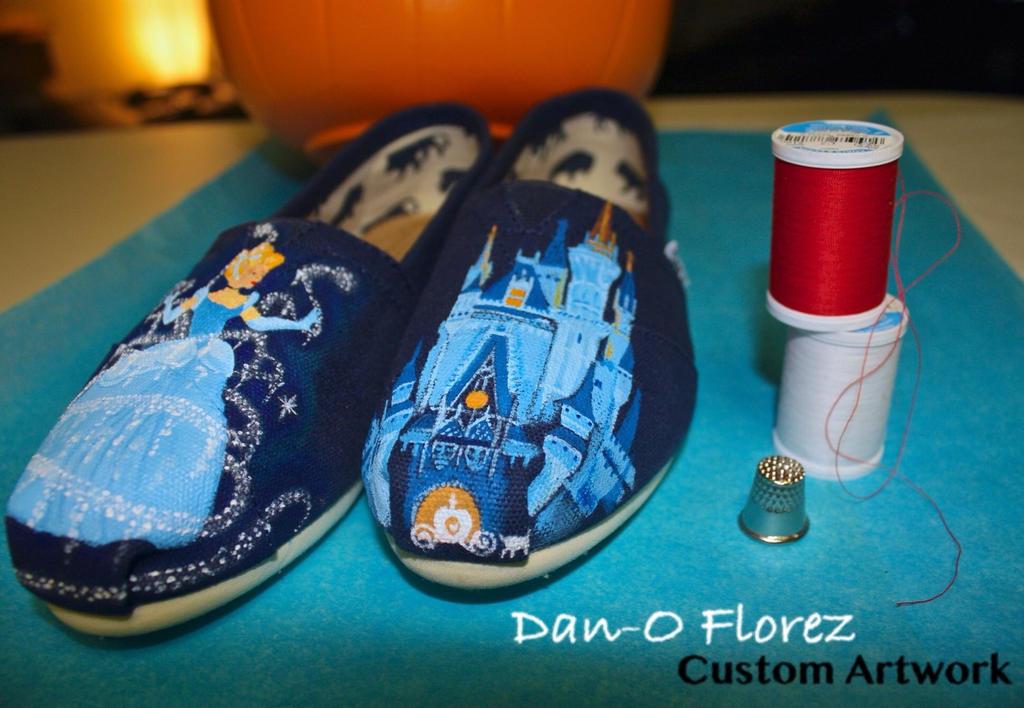 Custom Painted Toms Disney