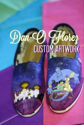 Custom painted Aladdin TOMS