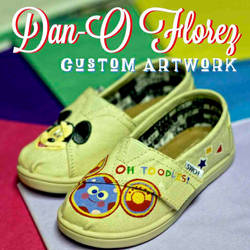Oh Toodles custom painted Toddler TOMS