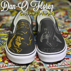 Thor and Loki Custom Painted Vans shoes