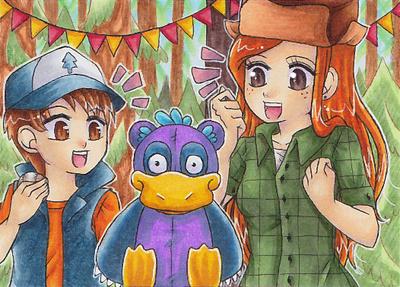 Dipper And Wendy by LuckyAngelausMexx