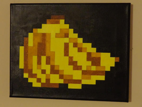 banana bunch pixel art painting by thepixeldad on deviantart. Black Bedroom Furniture Sets. Home Design Ideas