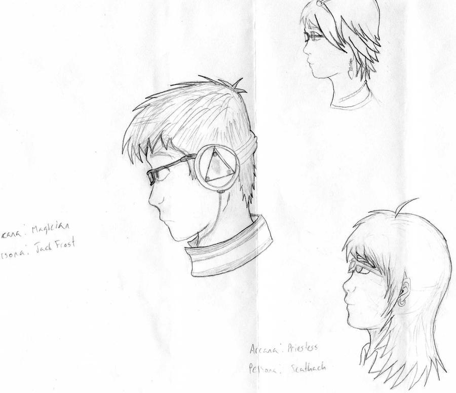 Persona Portrait Rough Draft by KitsuneHavoc