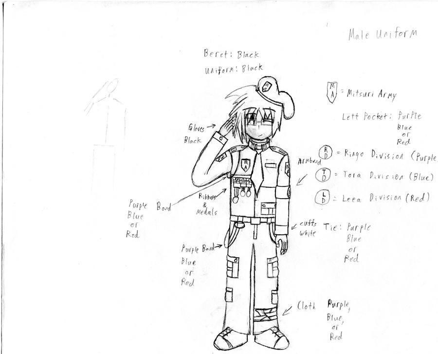 Mitsuri Army Male Uniform by KitsuneHavoc