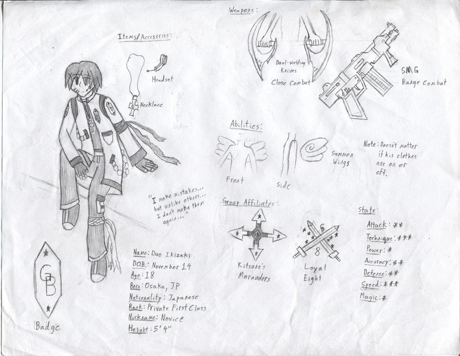 GB Profile: Duo Ikizaki by KitsuneHavoc