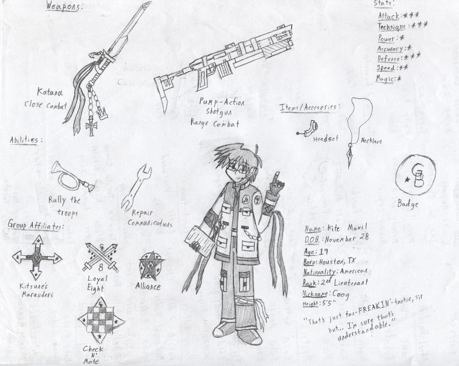 GB Profile: Kite Maxil by KitsuneHavoc