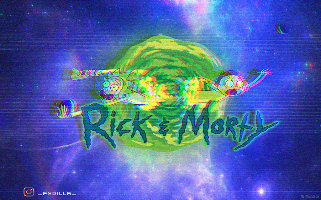 Rick And Morty Wallpaper Glitch By Pxdilla