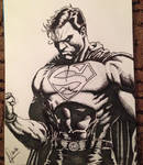 Superman - in pen by andrewpearce101
