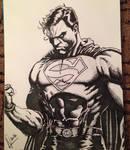 Superman - in pen by andrewpearce101