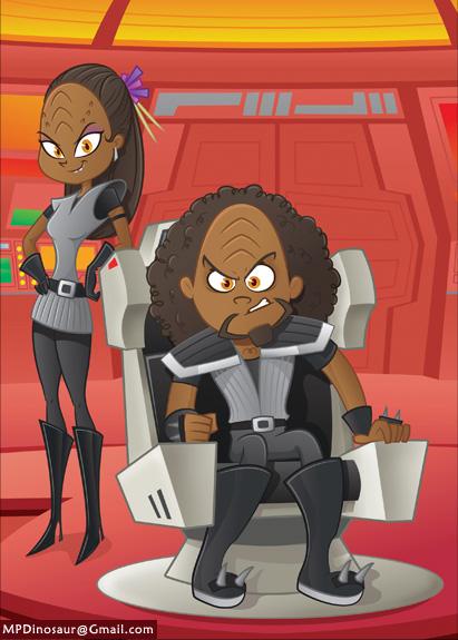 Angry Klingons by MyPetDinosaur