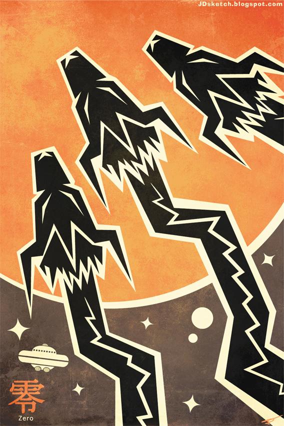 Godzilla vs. Monster Zero Movie Poster: Series 1 by MyPetDinosaur
