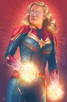 Captain Marvel by msdoomandgloom