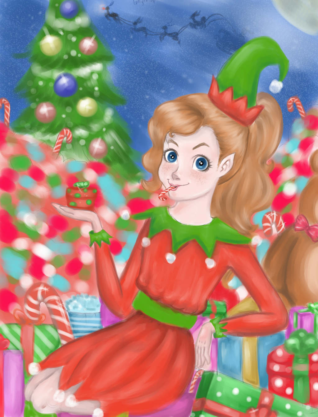 Santa's Helper by krysocyon-2016