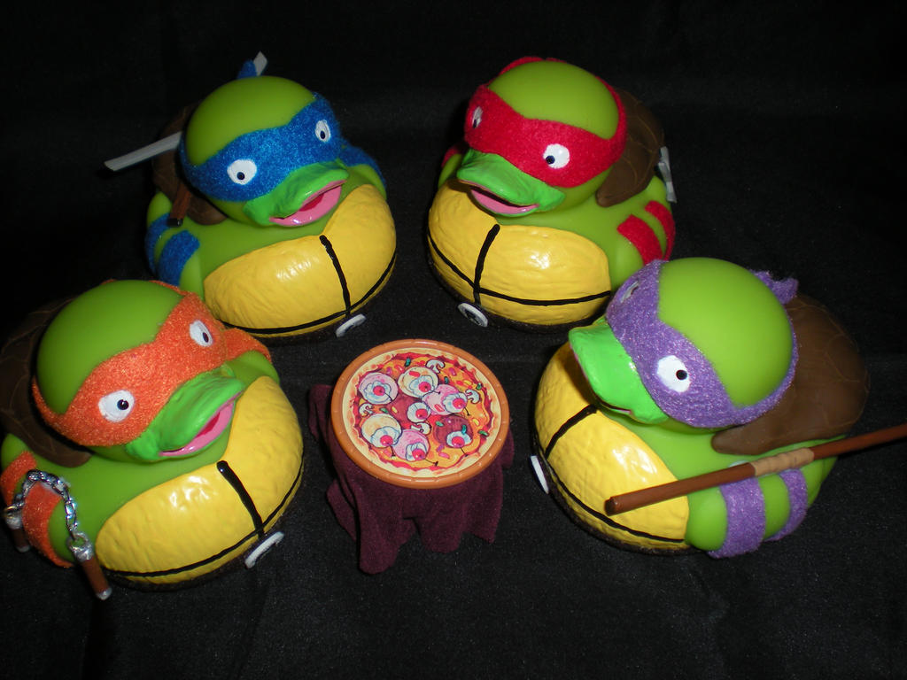 Ninja Turtles Ducks by Oriana-X-Myst
