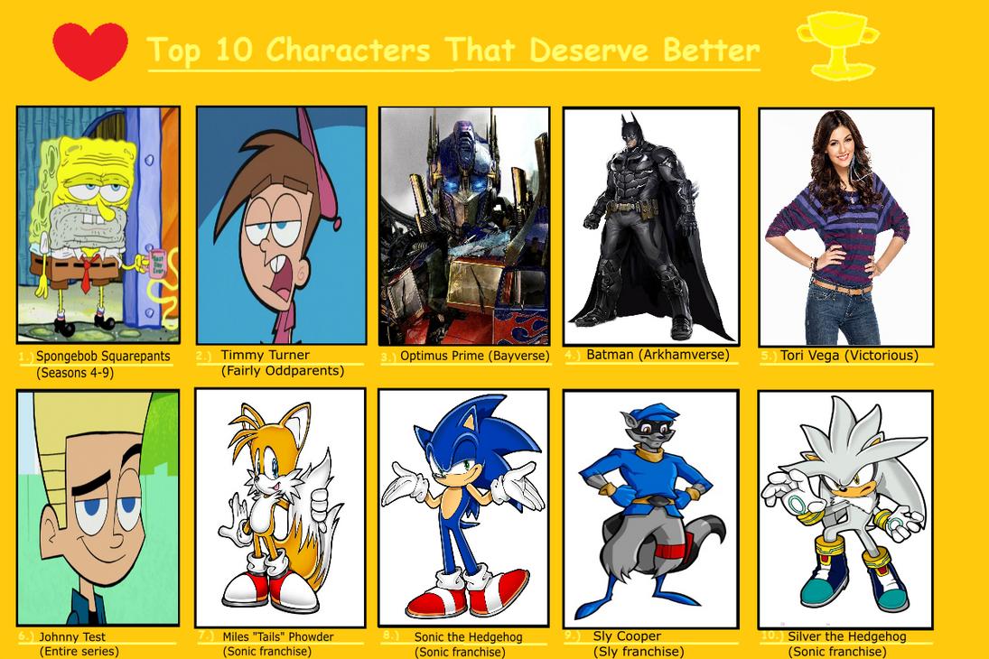 jayzeetee u0027s top 10 characters that deserve better by jayzeetee16