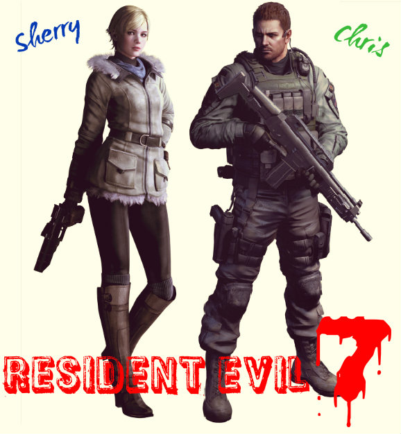 Chris Redfield And Sherry Birkin For Re7 By Teamsnic On