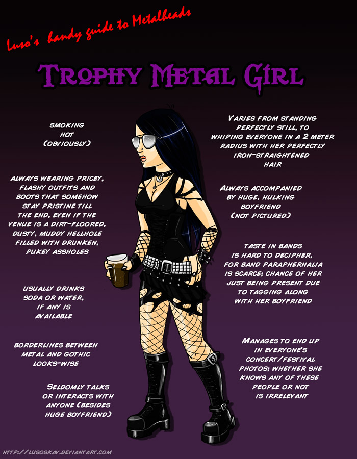 Metal 101- The Trophy Metal Girl by LusoSkav